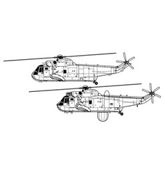 sikorsky sh-3 sea king vector image