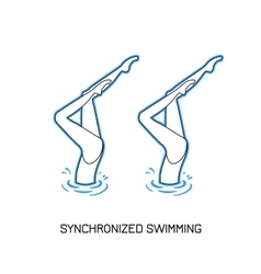 Sport Synchronized swimming vector