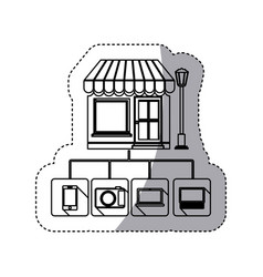 Store online icon stock vector