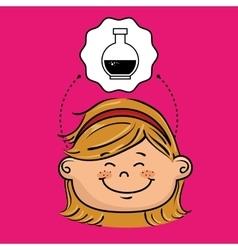 student girl study icon vector image