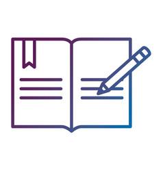 text book school with pencil vector image vector image