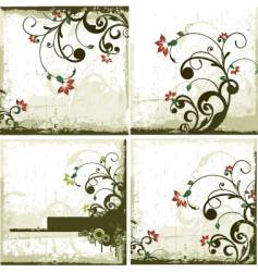 urban floral backgrounds vector image