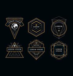 vintage geometric emblems vector image