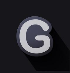 Volume icons alphabet g vector