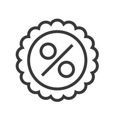 Vpercent badge ector online shopping line style vector