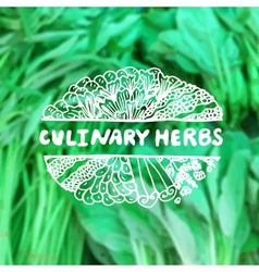 Zentangle element on blurred background Culinary vector
