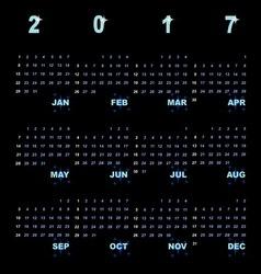 Creative template of 2017 calendar vector image vector image