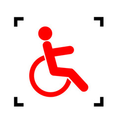 disabled sign red icon vector image