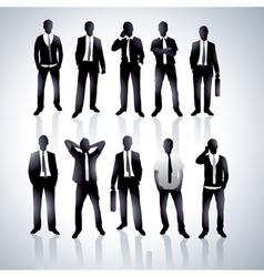 men in black suits vector image