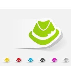 realistic design element hat vector image vector image