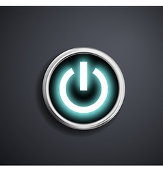Round power button vector image