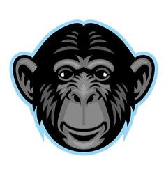 chimp head vector image vector image