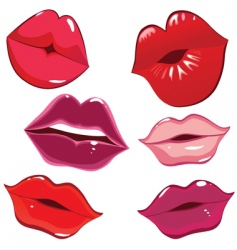 lips and kiss vector image