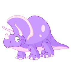 triceratops dinosaur vector image vector image