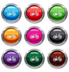 bicycle set 9 collection vector image
