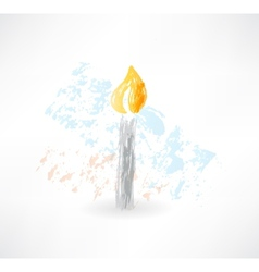 candle grunge icon vector image vector image