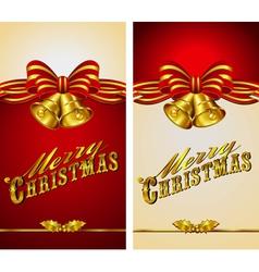 Christmas Menu Card Bells vector image vector image