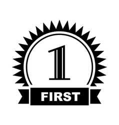 First place icon simple style vector image vector image