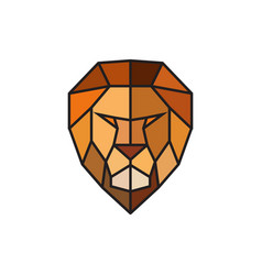 Head of a lion logo template for business vector