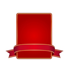 Red frame with banner vector image vector image