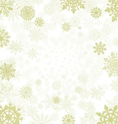winter background with snowflakes snow vector image