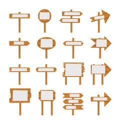 wooden signboards wood arrow sign vector image