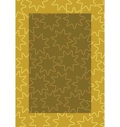 background frame brown vector image