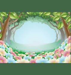 beautiful fantasy forest scene vector image