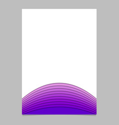 Blank brochure template from layer stripes - vector