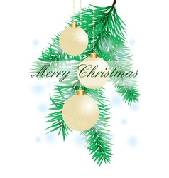 Christmas background with evening balls vector image vector image