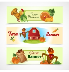Farm banners set vector image vector image