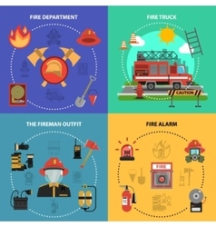 Fire Fighting Set vector image vector image