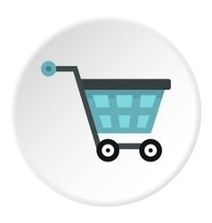 Shopping cart icon flat style vector image vector image