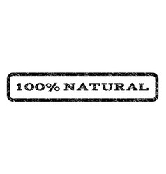 100 percent natural watermark stamp vector