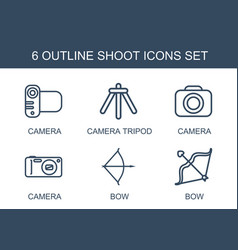 6 shoot icons vector