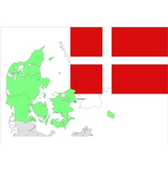 6133 denmark map and flag vector image