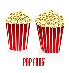 A box of popcorn circular and square box of popcor vector