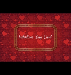 Abstract decorative valentines day card vector image