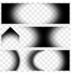 Abstract Halftone set vector image