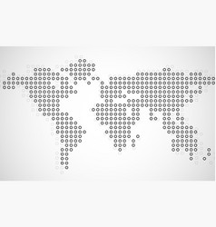 abstract world map of dots on white background vector image