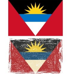 Antigua and Barbuda grunge flag vector image