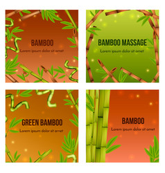 bamboo realistic concept vector image
