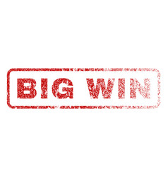 big win rubber stamp vector image