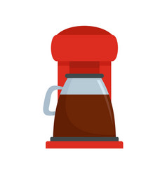 Classic coffee machine icon flat style vector