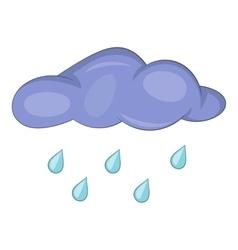 Cloud with rain drops icon cartoon style vector