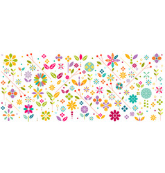 colorful flower symbol and graphic decoration vector image