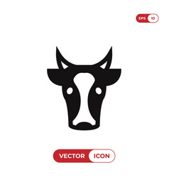 Cow head icon vector