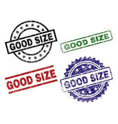 Damaged textured good size seal stamps vector