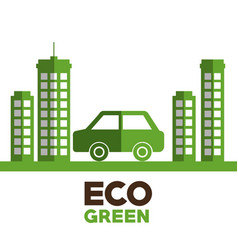 Ecology city green icon vector