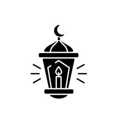 Eid al fitr black glyph icon vector
